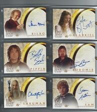 Lord of the Rings LOTR Fellowship AUTO autograph Sir Ian Holm as Bilbo