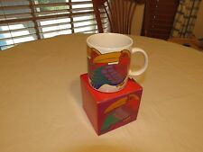 Laurel Burch Toco Toucans MG725 cup mug coffee Rare with box