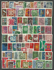 WEST GERMANY STAMP COLLECTION & PACKET 100 DIFFERENT Mostly Used NICE SELECTION