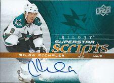 (HCW) 2008-09 Trilogy Superstar Scripts MILAN MICHALEK Autograph Auto 00244