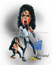 Michael Jackson 8x10 Limited  Edition Caricature Art print from Don Howard