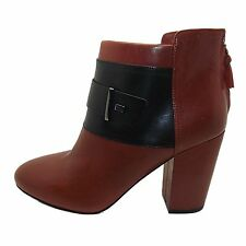NEW FRENCH CONNECTION LIRA SOFT LEATHER 2-TONE ANKLE BOOTS BOOTIES SZ 7 / 40