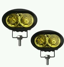 2X 20W Yellow Car Royal Enfield Bike Fog Lights Cree Projector Aux Lamp Spot Drl