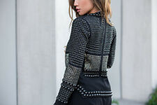 ISABEL MARANT JAYNA STUDDED TWILL JACKET FR 38 UK 8