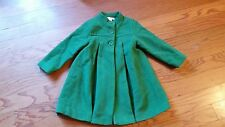 Janie and Jack girls A Winters Walk green peacoat. Size 2-3t (4). VGUC