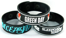PIERCE THE VEIL SLEEPING WITH SIRENS GREEN DAY 3pcs(3x) Bracelet Wristband 3w39