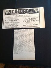 64-2 1939 Advert Falmouth St Georges Cinema Gracie Fields We're Going To Be Rich