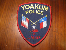 YOAKUM TEXAS POLICE PATCH (LAND OF LEATHER)