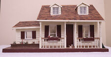 Vintage Antique Hand Made Craftsman Wood Doll House Architectural Display