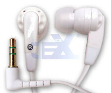 High Quality White Silicon Earbuds Earphones Flat Anti Tangle Cord for MP3