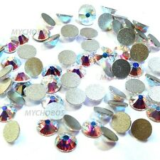 36 Swarovski Elements 2058/2088 flat backs rhinestones ss30 CRYSTAL AB (001 AB)