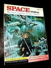 SPACE WORLD magazine March 1961 Flying Saucers UFO mapping the moon