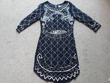 Gorgeous NEW Lace & Beads London Navy Blue Beaded Dress Size: UK 8 / XS RRP: £79