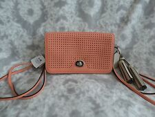 NWT Coach Legacy Leather Messenger Bag Purse Cute Pink Coral