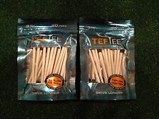 "2 Packs of TefTee Teflon Coated Golf Tees 3.25"" Drive 6.5 Yards LONGER (40 tees)"
