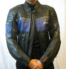 Vince Men's Leather Motorcycle Jacket Motocross Pads Armor Size EU 48 US 38 Moto
