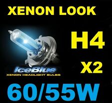 H4 X 2 Pure 5000K White Hi Low Beam Headlight Bulbs P43T 12V 60/55W Car