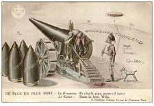 CPA illustrée Ch. LEO Satire anti Kaiser Guerre Canon Zeppelin Obus (14577)