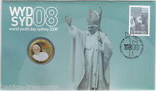 2008 PNC $1 World Youth Day Stamp and Coin Cover Pope Benedic XVI