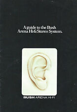 A GUIDE TO THE BUSH ARENA HI-FI STEREO SYSTEM 1970s Brochure Catalogue RARE