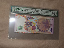 Argentina Pick 358a*  2012 Commemorative Replacement Note PMG 66 EPQ 100 Pesos