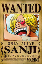 One Piece WANTED Poster (26 x 40 cm) - SANJI – Last Bounty!