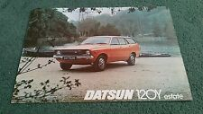 DATSUN SUNNY 120Y ESTATE October 1976 / 1977 UK LEAFLET BROCHURE