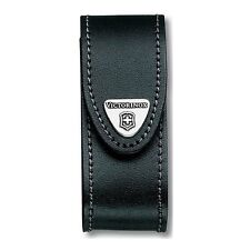 Swiss Army Leather Knife Belt Pouch, Black, Victorinox 33260, New In Box