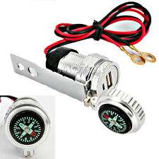 USB Charger Compass For Harley Softail Deluxe Fat Boy Heritage Classic Custom
