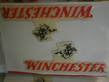 """Lot of 10 3-D Winchester Decals New in Package 4.5"""" Stickers Gun Horse Cowboy"""