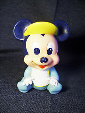 Vintage 1984 ARCO Walt Disney Baby Mickey Squeeze Squeak Toy Good Used Condition