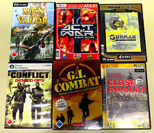 6 PC SPIELE SAMMLUNG CONFLICT MEN OF VALOR GI CLOSE COMBAT GUNMAN USK 18 SHOOTER