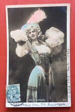 CPA. Artiste Mlle DERVAL. 1906. Théâtre. Star.