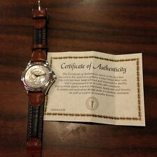 PRESIDENTIAL SEAL JFK HALF DOLLAR COIN TWO TONE WRIST WATCH.