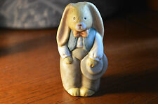 Rabbit Bunny Man - Colorful - Holding Hat #O
