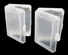 (2) TRANSPARENT PLASTIC 1 DECK HOLDER CASE POKER SIZE PLAYING CARDS FREE S/H*