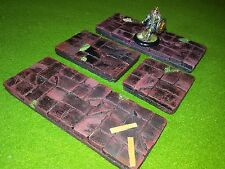 RED TILES PAINTED DESCENT HEROQUEST FROSTGRAVE WARHAMMER DUNGEON & DRAGONS ROL