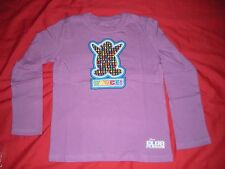 CLUB PENQUIN BY DISNEY GIRLS LONG SLEEVE PURPLE TEE SHIRT SIZE S 5/6 NEW