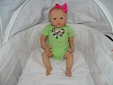 Hand Painted Reborn Doll, Aubrey, by Denise Pratt, rooted hair 20 inch baby doll
