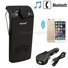 Wireless Bluetooth Hands Free Car Kit Speakerphone Speaker Phone Sun Visor Clip
