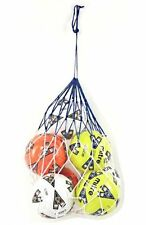 5 Ball Football Carry Net Training Aid Coaching Nylon String Equipment Store Kit