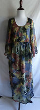 Angie Multi Color Abstract Hippie Boho Peasant Grunge Revival Festival Dress