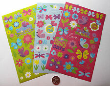 SCRAPBOOKING NO 234 - 60 plus small to large BUTTERFLY THEMED STICKERS