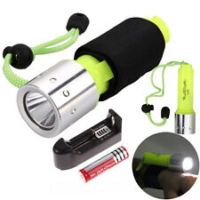 Underwater 1800LM XM-L T6 LED Diving Flashlight Torch Lamp 50m Waterproof +18650