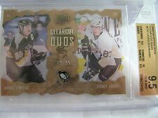 08-09, UD SERIES 1 CLEAR CUT DUOS, CROSBY/LEMIEUX, C.CDI,12/25, BGS-9.5 GEM MINT