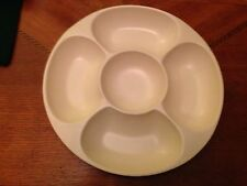Red Wing Pottery 5 Section Divided Nut Bowl Appetizer Dish -cream Matte Finish