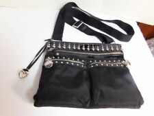 BRIGHTON - Micro fiber, leather and studs cross body bag