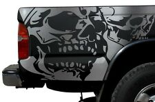 Vinyl Graphics Decal Wrap Kit for 1995-04 Toyota Tacoma TRD Double Skull SILVER