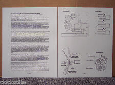 "MANTLE CLOCK MOVEMENT INSTALLATION INSTRUCTION ""MANUAL"" -  service repair parts"