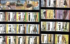 TRAIN RAILWAY Collection NEVIS 76 STAMPS Unmounted MINT Ref:TH558J